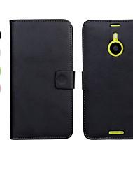 abordables -color sólido de la PU cuero caso de cuerpo completo con soporte y tarjeta de la ranura para Nokia Lumia 1520 (colores surtidos)