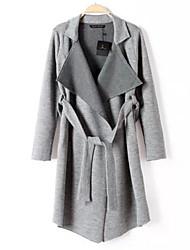 baratos -Mulheres Chique & Moderno Vestido - Estilo Moderno, Sólido