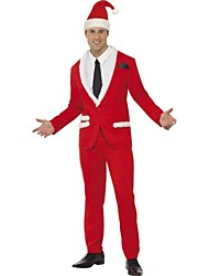 cheap -Santa Suit Cosplay Costume Men's Christmas Festival / Holiday Halloween Costumes