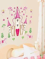 stickers muraux Stickers muraux, dessin animé disney princesse château pvc stickers muraux