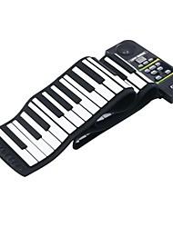 Недорогие -88 ключ электронный кремний клавиатура пианино гибкий Roll Up фортепиано с Громкая / ножной педали