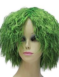 монолитным жаропрочных волокна дешевые зеленые короткие пушистые парики партии