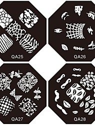preiswerte -12pcs 12-Farben ultradünne Diamantform Nagelkunst paillette Glitzer Sticker