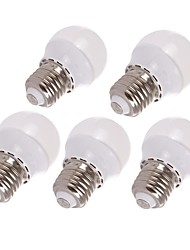 1.5W E26/E27 LED Globe Bulbs 6 leds SMD 3528 Decorative Warm White 125-145lm 3000K AC 220-240V