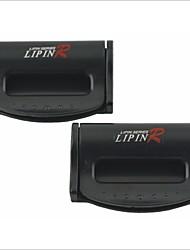 Недорогие -LP-2567 универсальный пластик безопасности автомобиля ремня клипы (2 шт)