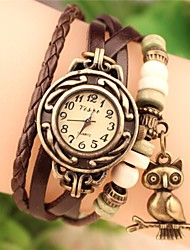 cheap -Women's 2015 The Owl Fashion Leather Japanese Quartz Watch (Assorted Colors) Cool Watches Unique Watches Strap Watch