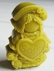sapone ragdoll strumenti a forma di torta al cioccolato fondente silicone torta muffa decorazione, l8.3cm * w6cm * h2.7cm