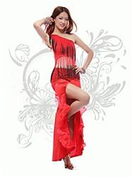 economico -Balli latino-americani Completi Per donna Prestazioni Cotone / Poliestere Nappa Senza maniche Naturale / Ballo latino
