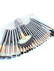 24pcs Makeup Brushes set Professional blush/powder/foundation/concealer brush shadow/eyeliner brush with white bag cosmetic brush