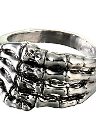 Fashion Palm Silver Titanium Steel Ring