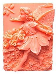 baratos -flor de fadas libélula bolo fondant forma molde de silicone de chocolate