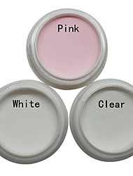 cheap -3pcs nail art acrylic powder sets white pink clear