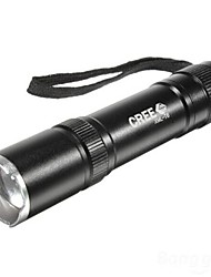 LS018 LED Flashlights/Torch Handheld Flashlights/Torch LED 1600 Lumens 3 Mode Cree XM-L T6 Batteries not included Mini Adjustable Focus