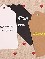 cheap -Kraft Paper Hang Tags Lables for Bookmark Gift Bakery Packaging Favors Wedding Party Price Cards Set of 50(More Colors)