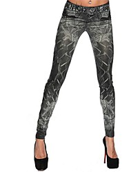 abordables -femmes denim legging, spandex mediumsporty mode slim chic coloré