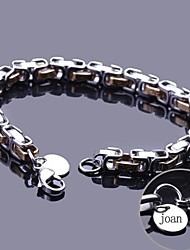 cheap -Personalized Gift Chain Bracelet Stainless Steel Engraved Jewelry