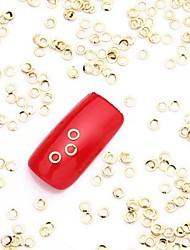 Недорогие -500шт золотые украшения ногтей искусство сплав ломтик металлик золотой круг блестящий шпильки ногтей для дизайна ногтей