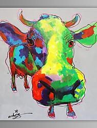 abordables -Peinture à l'huile Hang-peint Peint à la main - Pop Art Contemporain Toile