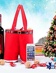 Недорогие -Рождество форма брюки вино подарок мешок