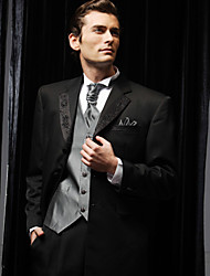 cheap -Tuxedos Slim Fit Standard Fit Collar Notch Peak One-Button Single Breasted Two-buttons Cotton Polyester Wool & Polyester Blend Solid
