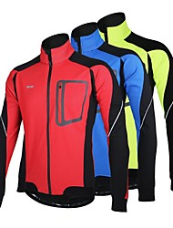 cheap -Arsuxeo Men's Cycling Jacket Bike Winter Fleece Jacket / Jacket / Top Thermal / Warm, Windproof, Anatomic Design Patchwork Polyester,