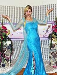 Cosplay Costumes / Party Costume Pretty Snow Princess Fairytale Girl Elsa Princess Blue Sequin/Chiffon Cosplay Costume