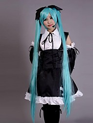 cheap -Inspired by Vocaloid Hatsune Miku Video Game Cosplay Costumes Cosplay Suits Dresses Patchwork Sleeveless Dress Headpiece Sleeves