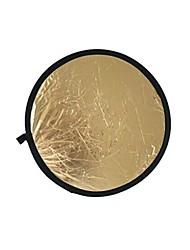 80cm 2 în 1 de aur reflector iluminare argint (aur)