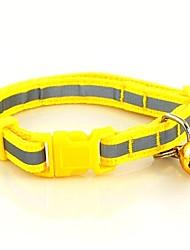 Gatos / Cães Colarinho Refletor / Retratável / Segurança Vermelho / Verde / Azul / Marrom / Rosa / Amarelo Náilon