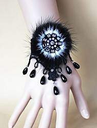 Недорогие -steampunk®mink волос черный жемчуг кружева браслет / ремешок