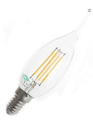 baratos -E14 Lâmpadas de Filamento de LED CA35 4 leds Decorativa Branco Quente 380lm 3000-3500K AC 220-240V