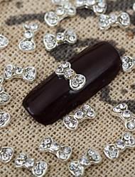 Недорогие -10шт 3d побрякушки Кристалл ювелирные изделия сплава лук горный хрусталь бантом Nail Art глянцевый маникюр ювелирные
