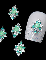 cheap -10pcs   Green Rhinestone Alloy For DIY Finger Tips Design Nail Art Decoration