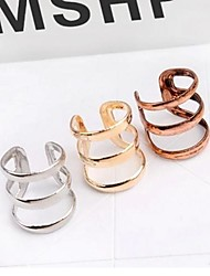 cheap -Women's Hollow Out Ear Cuff - Vintage, Simple Style Silver / Bronze / Golden For Wedding / Party / Daily