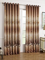 baratos -(Dois painéis) bordo país folhas de outono cortina blecaute botânico