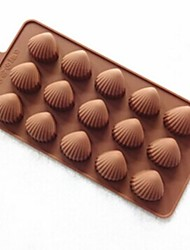 economico -15 Hole Shell Shape Cake Mold Ice Jelly Chocolate Mold,Silicone 22×11×1.5 CM(8.7×4.3×0.6 INCH)