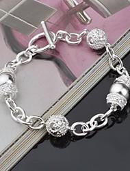 Femme Chaînes & Bracelets Colliers chaînes Strass Original Mode Bijoux Argent Bijoux 1pc