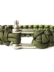cheap -Paracord Bracelet Adjustable, Tactical, Emergency for Camping / Hiking / Hunting / Fishing - Alloy