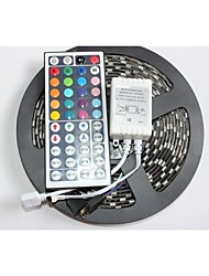 Z®ZDM Black PCB Board Waterproof RGB 5M 300x5050 SMD White Light LED Strip Lamp DC12V+44 Key