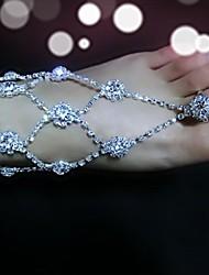 economico -accento decorativo in metallo da donna per le vacanze casual da matrimonio per i piedi