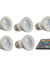 3W E26/E27 LED Spotlight 1 150 lm 5000 K Decorative Remote-Controlled AC 85-265 V