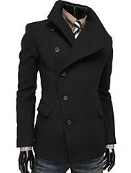 moda casual lapela pescoço pesado casaco de cor sólida dos homens kailuo