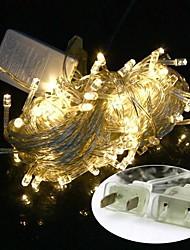 abordables -luz blanca cálida con nosotros Plug 10m impermeable 100LED llevó decoración luz luz de la secuencia (110v)