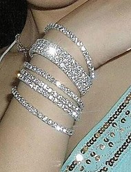 cheap -Hot Metal Alloy And Rhinestone Stretch Bracelet