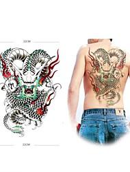 cheap -Tattoo Stickers Animal Series Large Size Lower Back Waterproof Women Men Adult Teen Flash Tattoo Temporary Tattoos