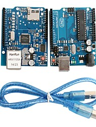 cheap -UNO R3 Board Module + Ethernet Shield W5100 Module for Arduino