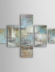 cheap -Oil Painting Hand Painted - Abstract Canvas Five Panels