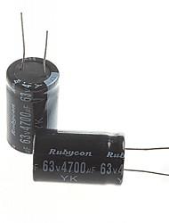 Недорогие -электролитический конденсатор 4700uF 63V (2 шт)