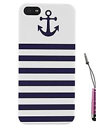 strisce blu di ancoraggio modello rigido& touch pen per iPhone 5 / 5s