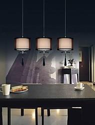 3 фары ткань лампы минималистский кристалл подвесные светильники